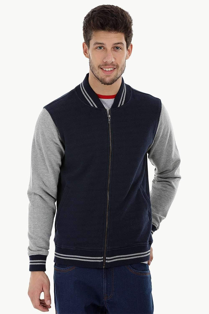 Full Zip Knit Varsity Jacket