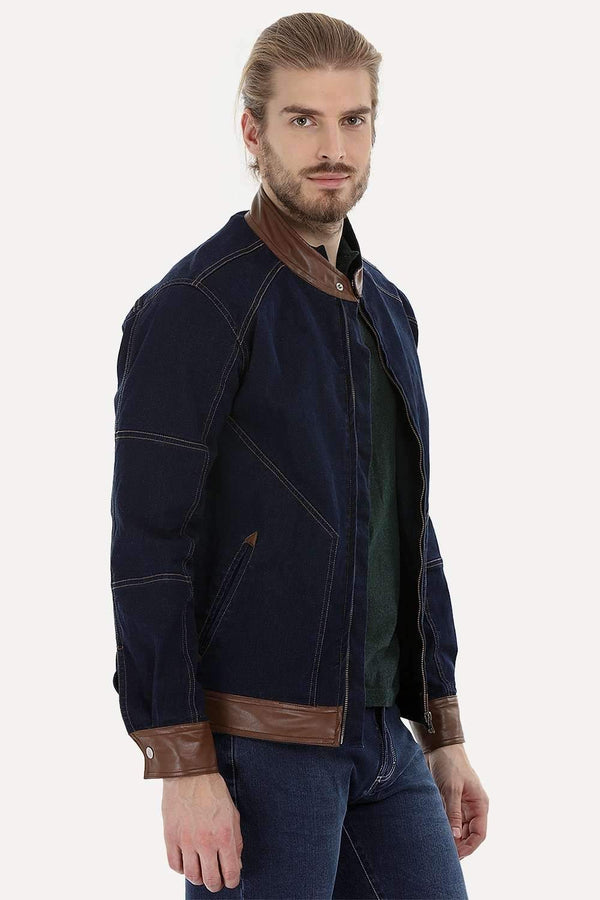 Full Zipper Urban Indigo Denim Jacket