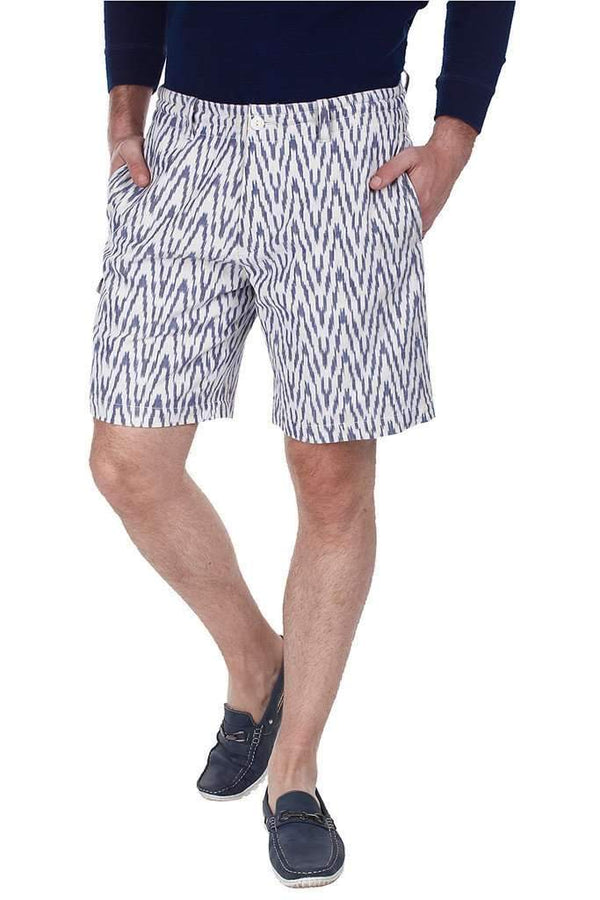 Fully Lined Ikat Weave Shorts