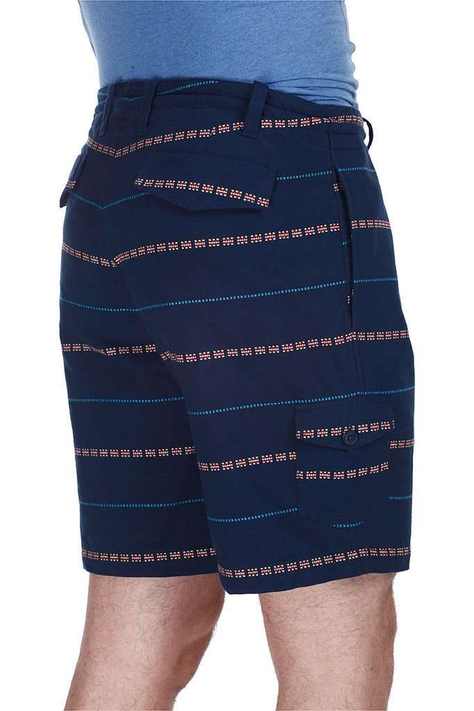 Fully Lined Stripe Weave Yarn Dyed Shorts