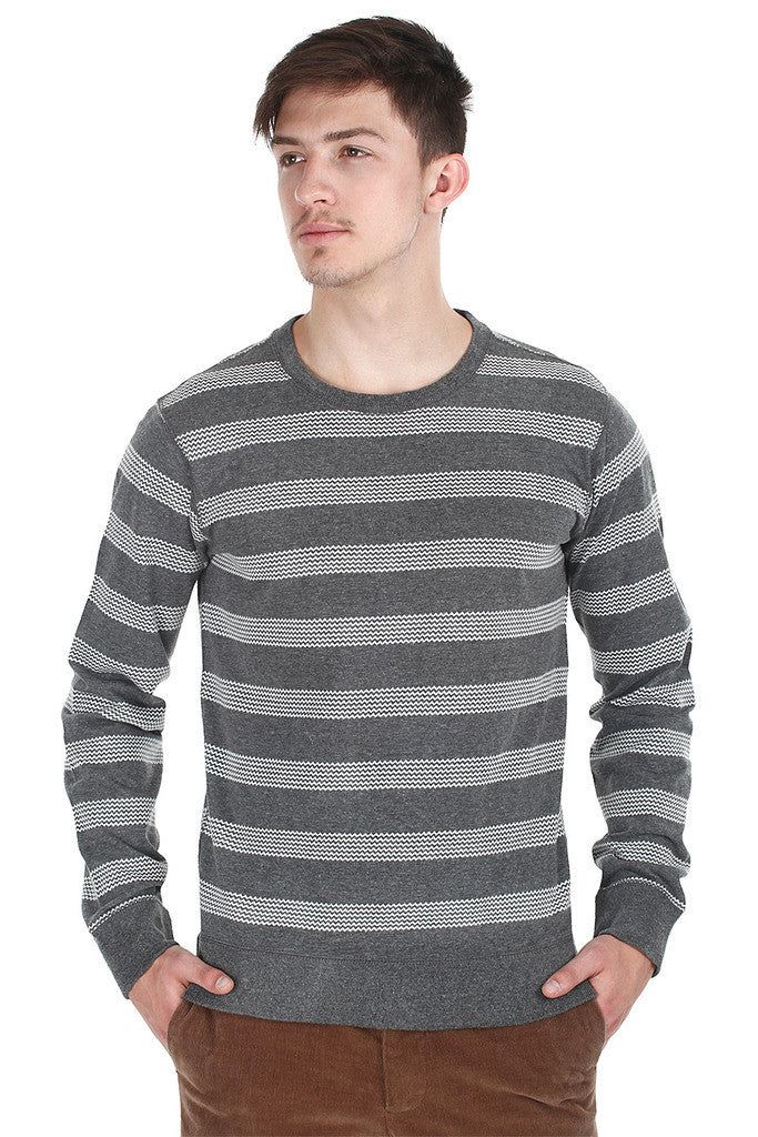 Heather Jersey Knit Stripe Shirt