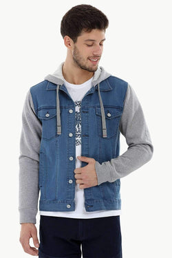 Hooded Indigo Denim Jacket