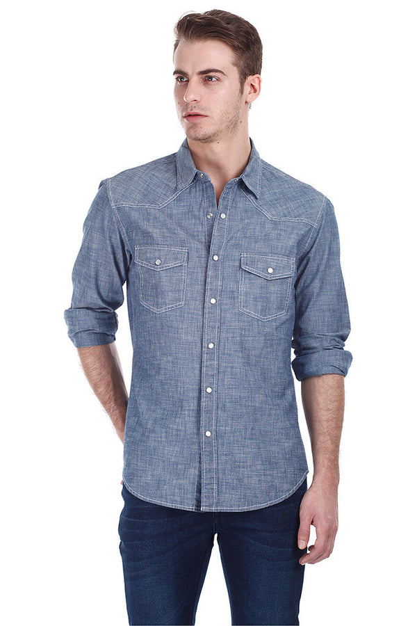 Indigo Denim Western Shirt
