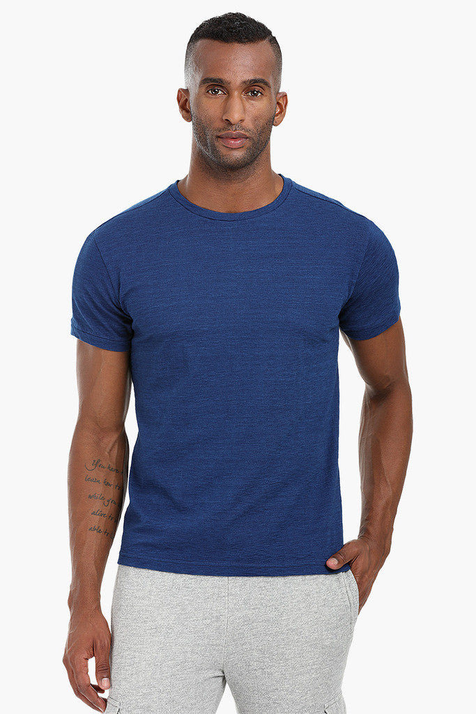 Indigo Panel Cotton T-Shirt