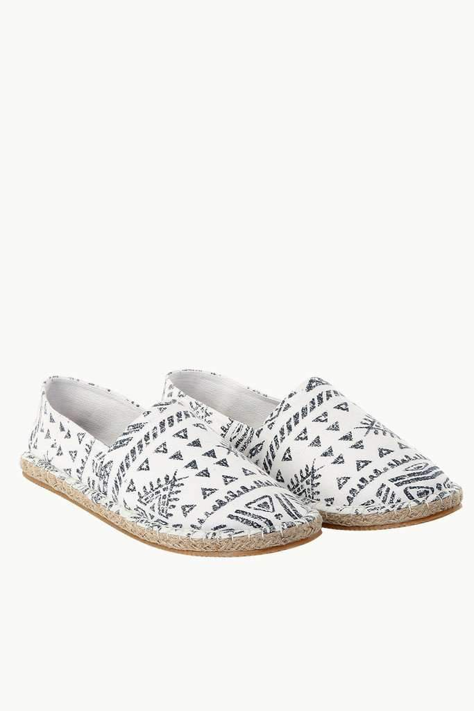 Knit Tribal Print Espadrilles