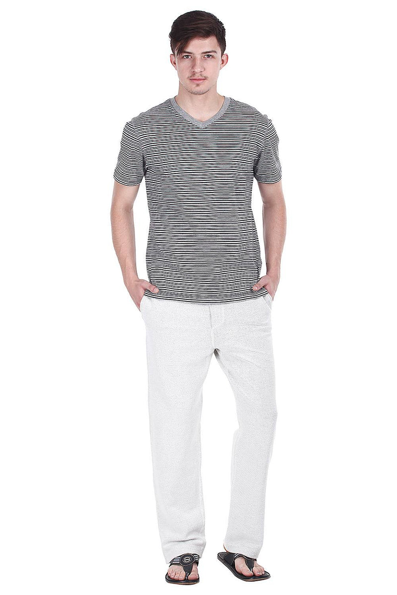 Grey Jacquard Fleece Sweatpants