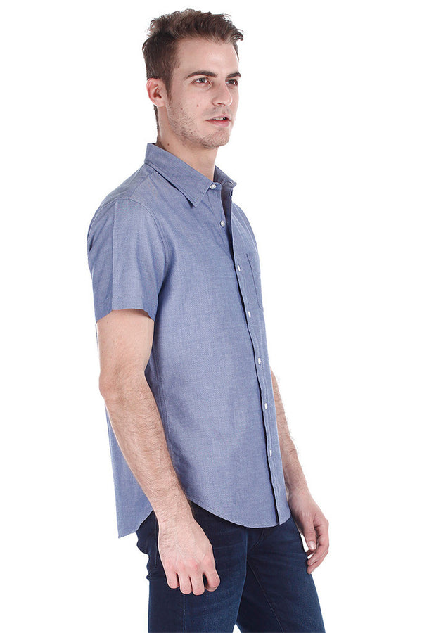 Lightweight Egyptian Cotton Short Sleeve Oxford Shirt