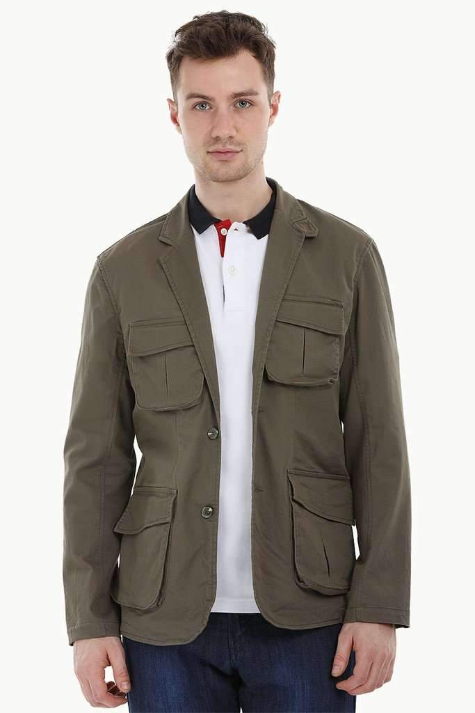 4 Pocket Rugged Olive Blazer