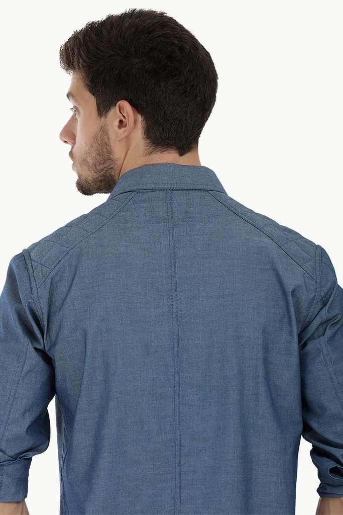 Long Sleeve Quilted Patch Shirt