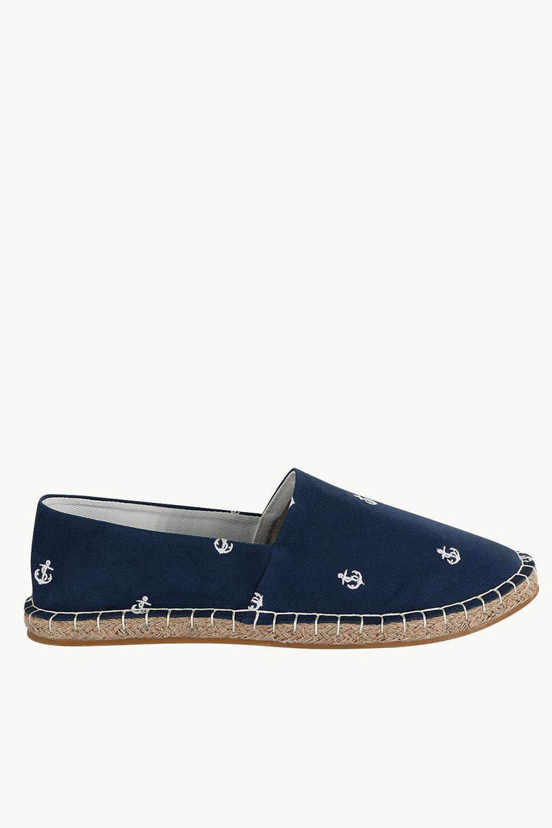 Mens Anchor Embroidered Espadrilles