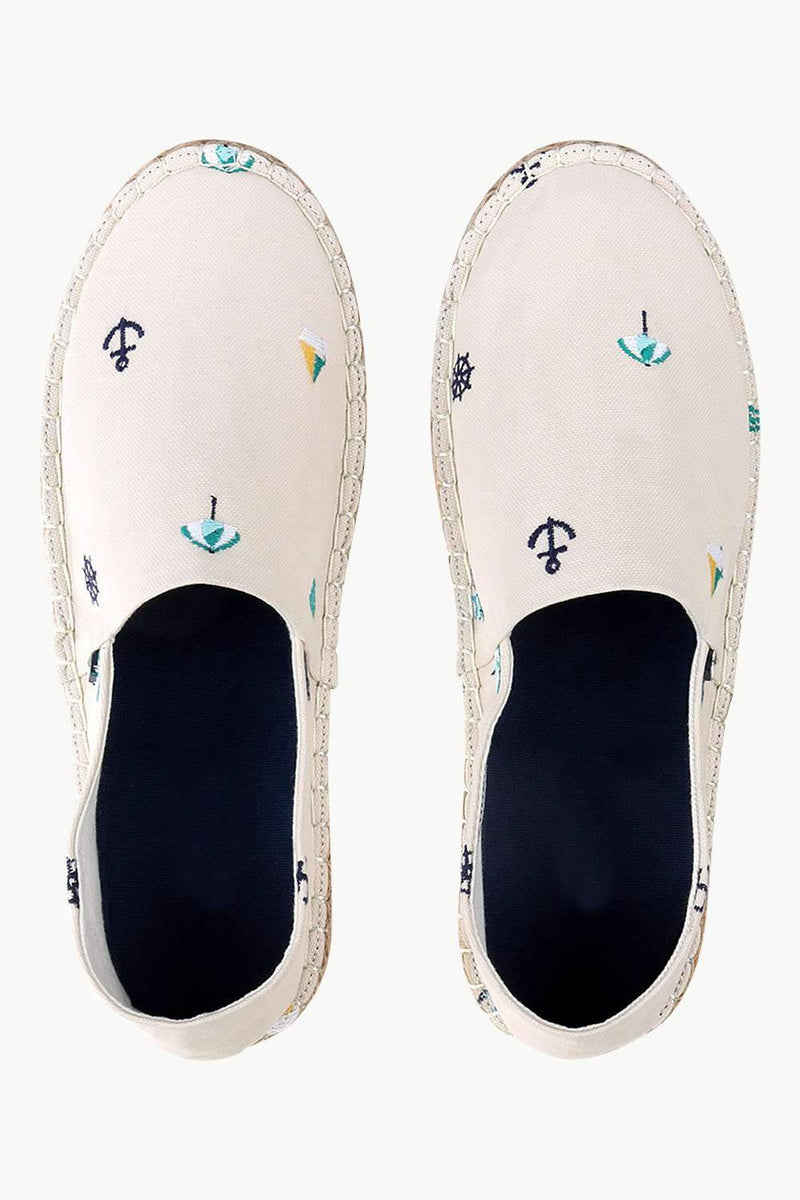 Mens Nautical Embroidered Espadrilles