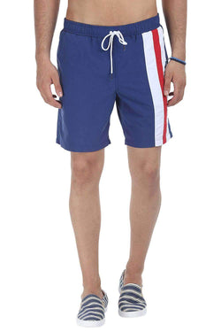 Quick Dry Swim Shorts With Stripes On One Side