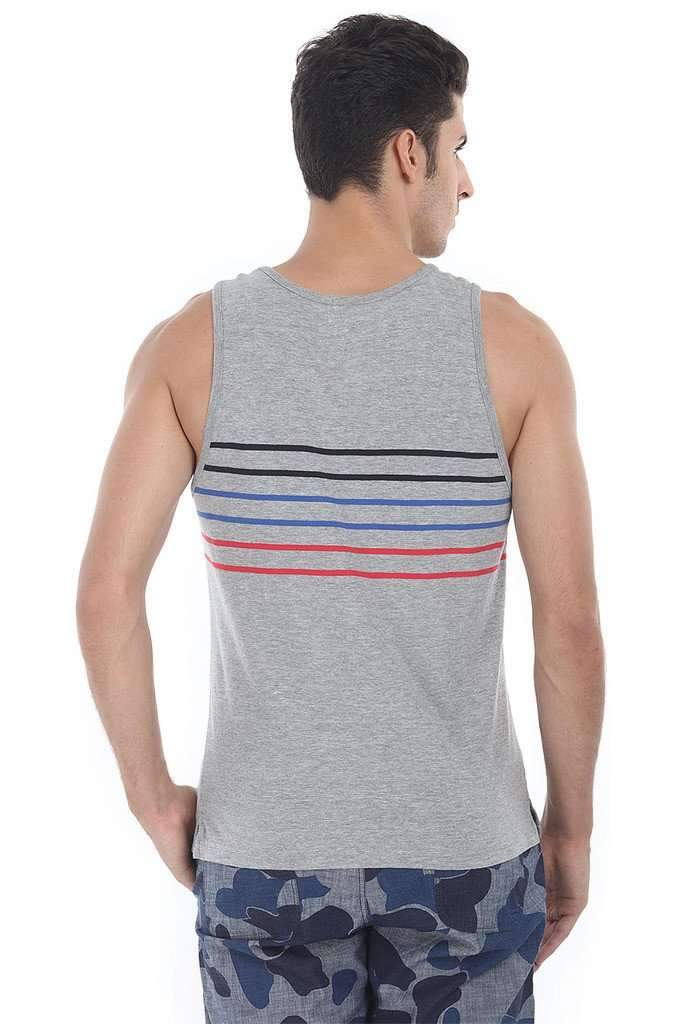 Multi Stripe Super Combed Knit Tank