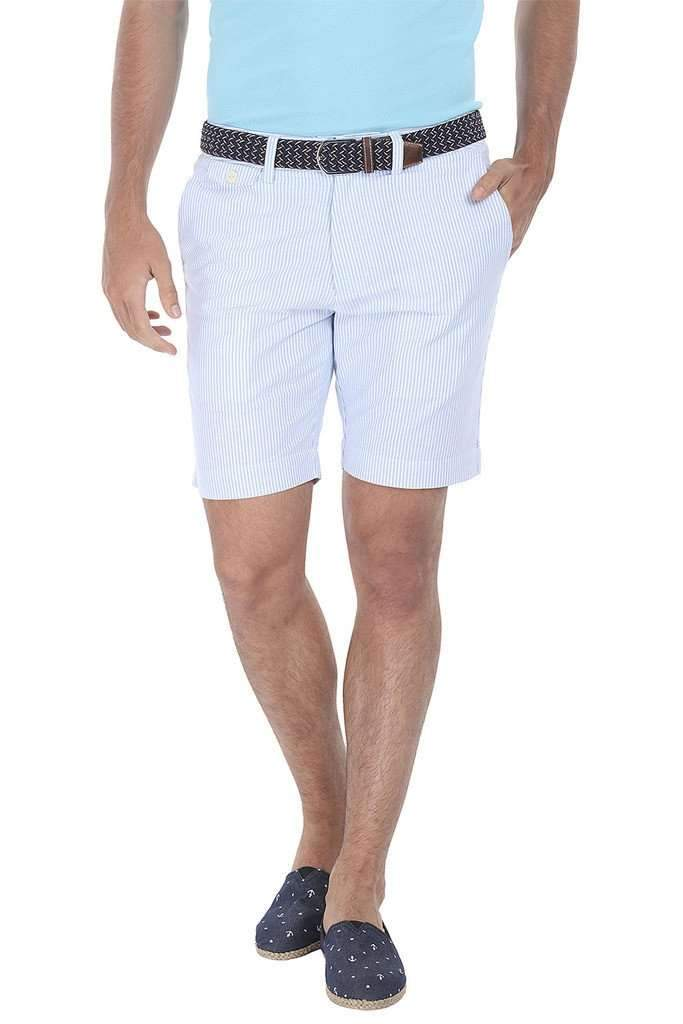 Natural Stripe Fitted Cotton Shorts
