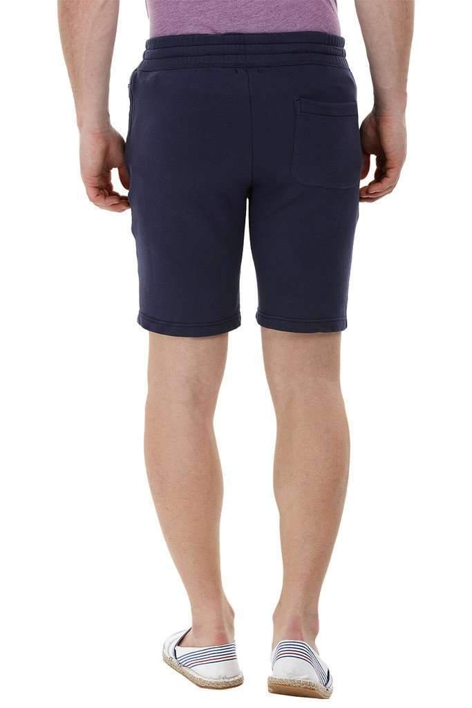 Navy Knitted Workout Shorts