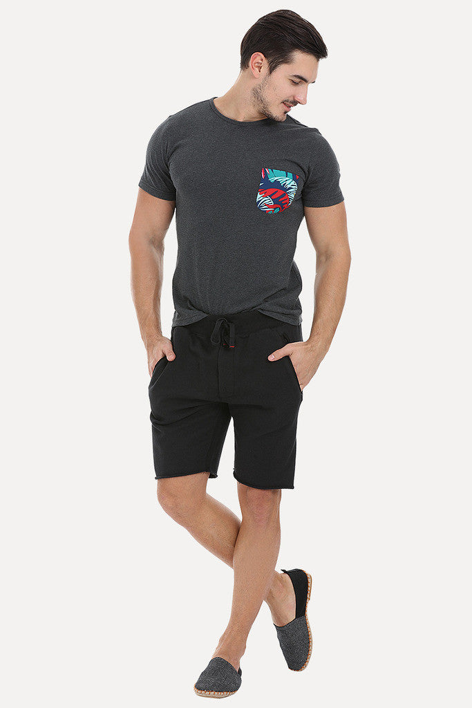 Nylon Printed Pocket Short Sleeve Tee