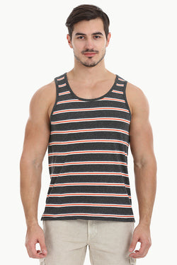 Orange And Grey Stripe Tank