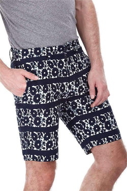 Oxford Blue Printed Shorts