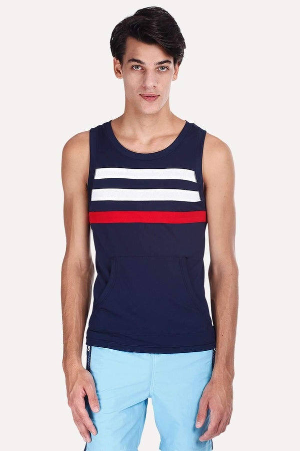 Navy And White Stripe Performance Wear