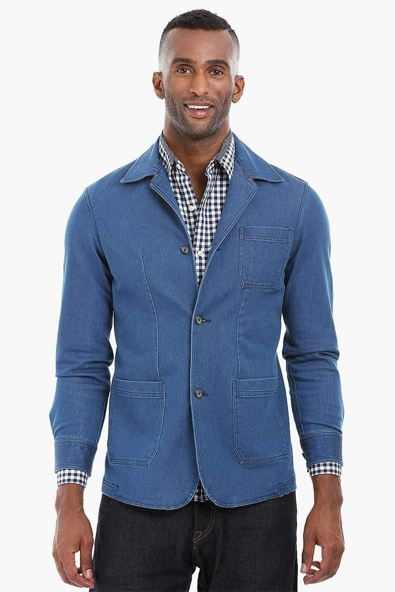 Patch Pocket Indigo Denim Jacket