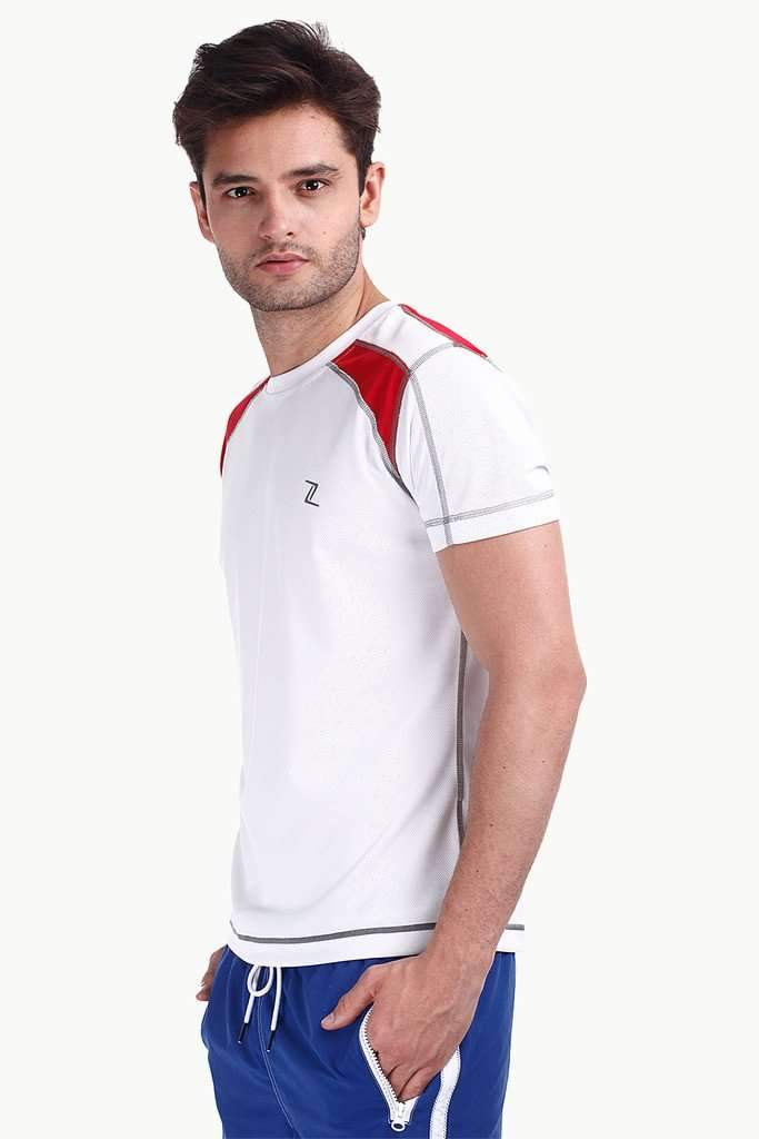 Performance Wear Crew With Contrast Shoulder