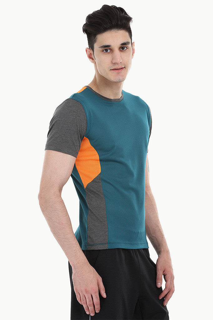 Performance Wear Melange Tee With Patch