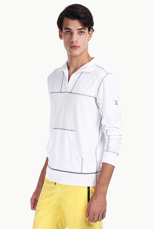 Performance Wear Pullover With Kangaroo Pocket