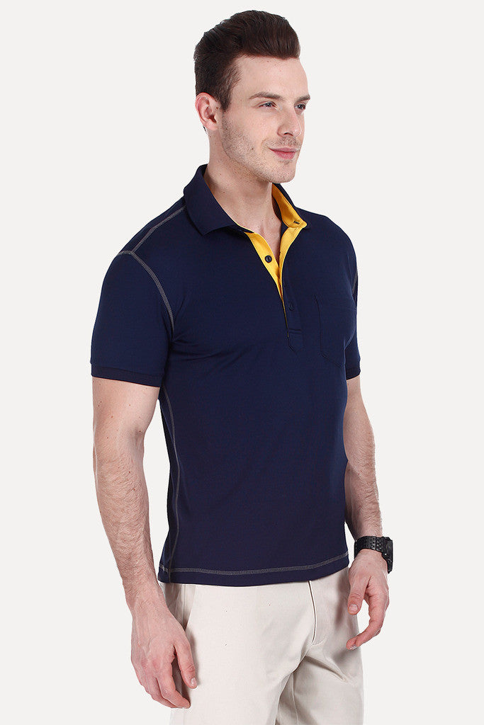 Performance Wear With Rib Collar Cuff Polo