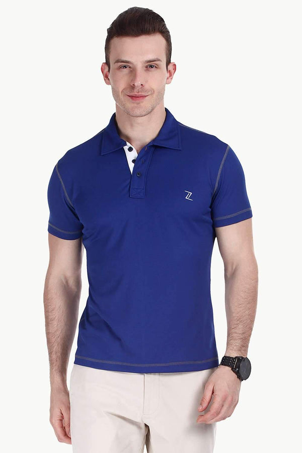 Performance Wear Contrast Placket Polo