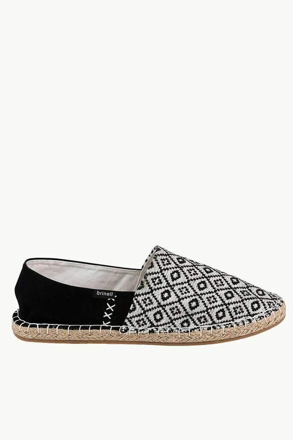 Printed Block Canvas Espadrilles