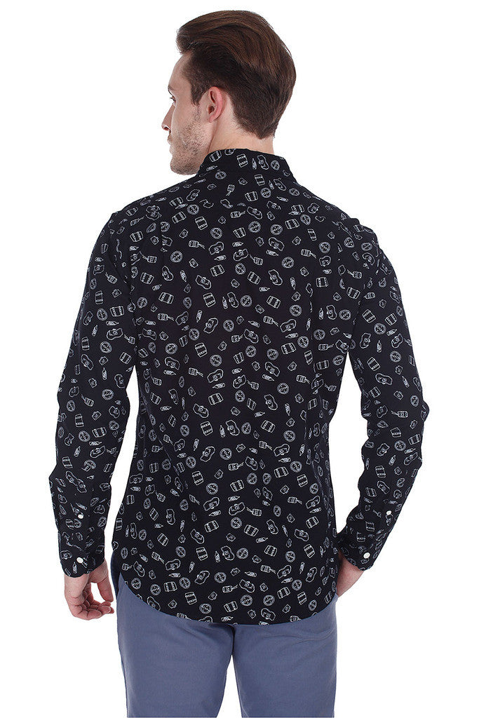 Printed Cotton Poplin Full Sleeve Shirt