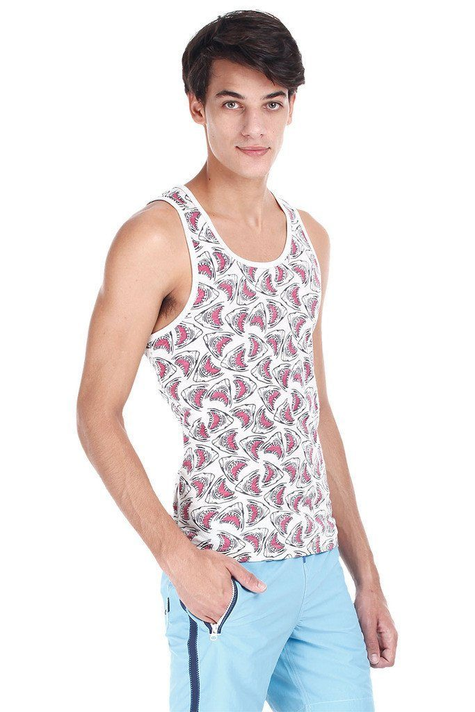 Printed Jacquard Knit Super Combed Tank