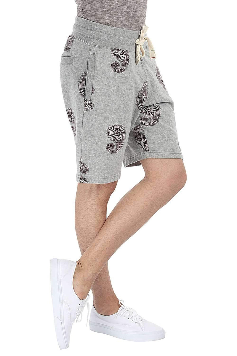 Paisley Printed Relaxed Fit Knit Shorts