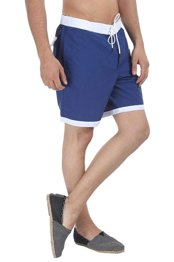Dual Color Block Nylon Swim Shorts