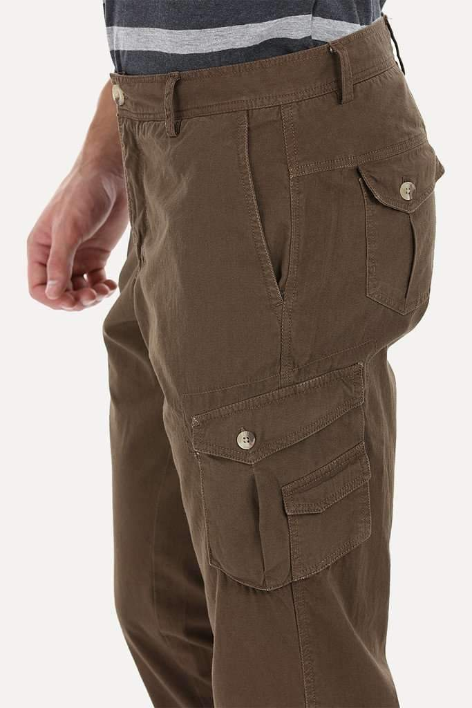 Relaxed Fit Garment Dyed Washed Cargo