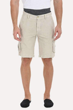 Relaxed Fit Garment Dyed Washed Cargo Shorts