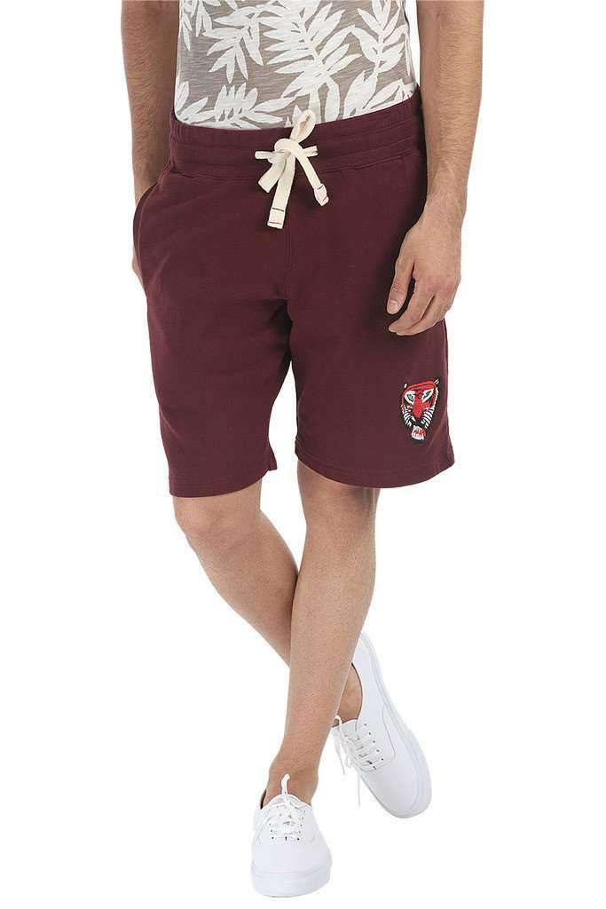 Royal Tiger Embroidered Relaxed Fit Shorts