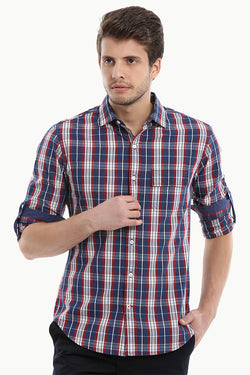 Scottish Cotton Yarndyed Plaid Shirt