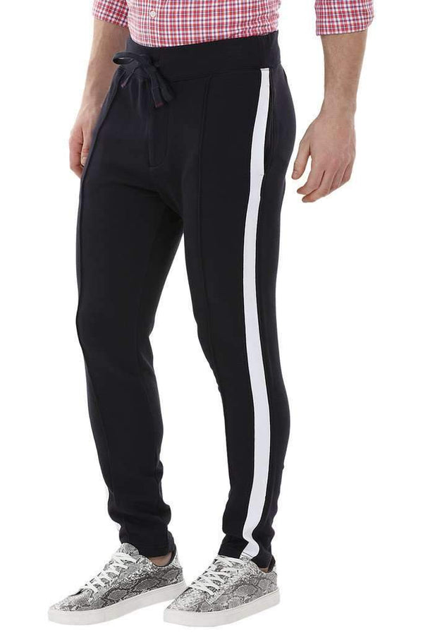 Side Colorblock Navy Sweatpants