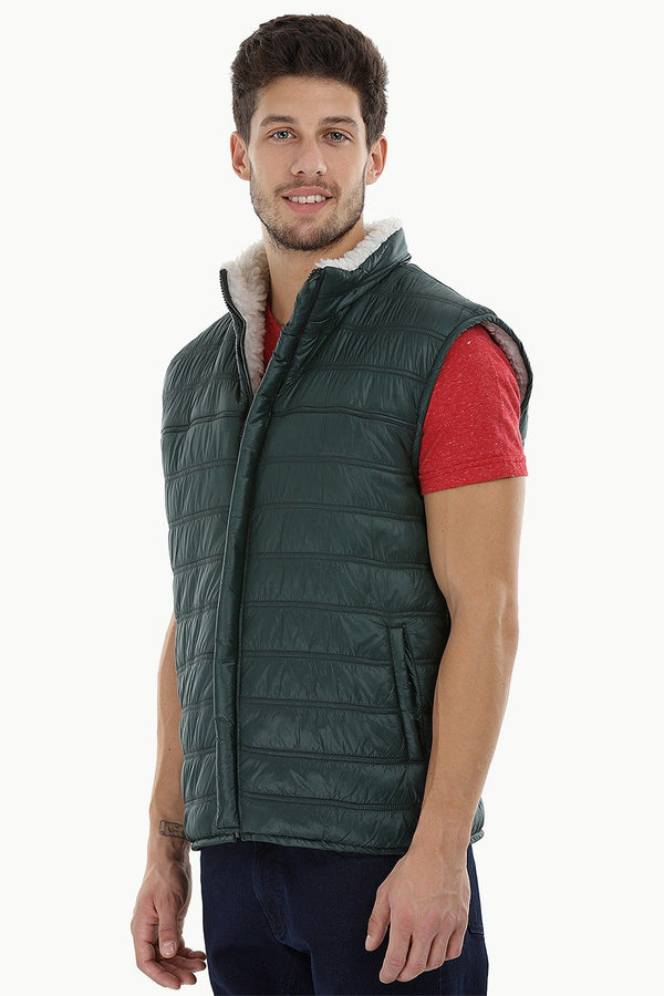 Sleeveless Sherpa Lined Cire Jacket