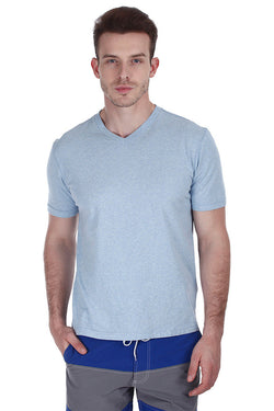 Soft Cotton Melange V Neck Tee