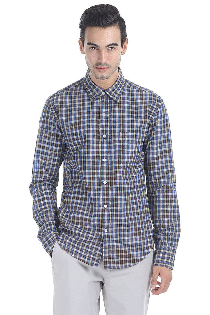 Soft Lighweight Cotton Slub Check Shirt