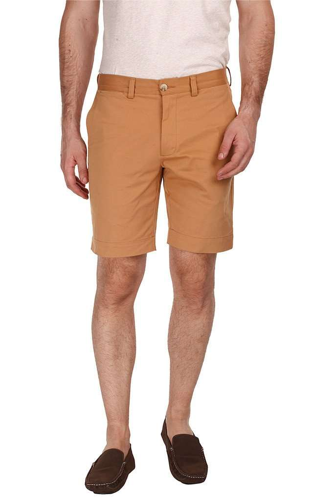 Soft Peached Solid Cotton Chino Shorts