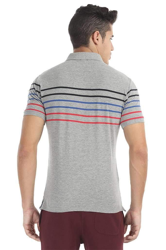Soft Short Sleeve Striped Polo