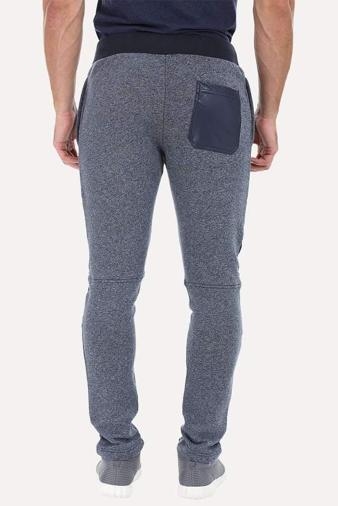 Soft Solid Heather Sweatpants With Knee Patch