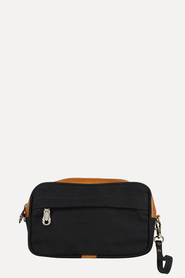 Solid Canvas And Genuine Leather Traveller Kit