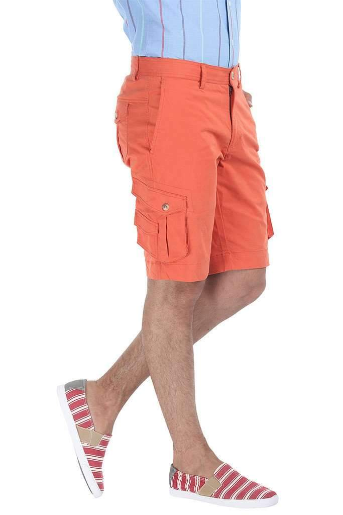 Solid Cotton Twill Slim Fit Shorts