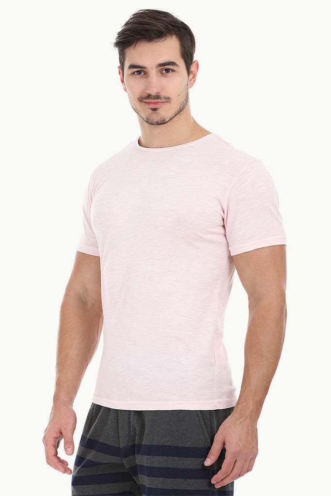 Solid Garment Dyed Slub Short Sleeve Tee