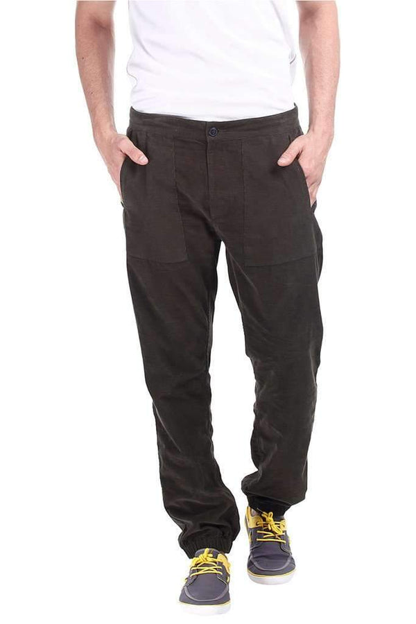 Solid Green Lightweight Cord Pant