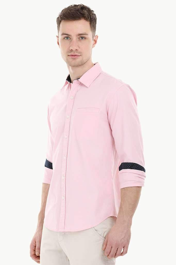 Solid Herringbone Shirt